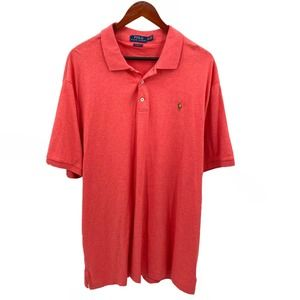 Polo by Ralph Lauren Coral Pink Polo Shirt XXL